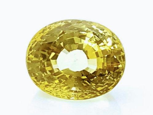 7.15 carats No Heat Yellow Sapphire from Sri Lanka