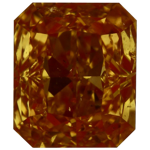 0.50 carat Intense Yellow Orange Diamond Radiant GIA certified
