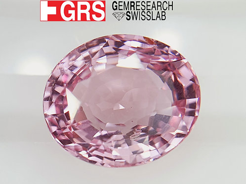 GRS certified 4.47 ct Natural Padparadscha Sapphire oval gemstone