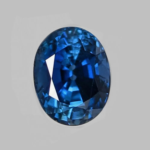 Certified No Heat 2.2 carat Blue Sapphire from Madagascar