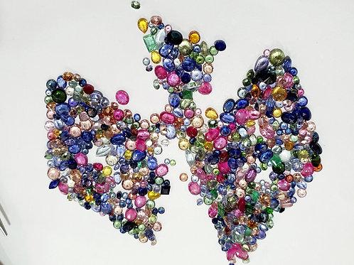 77.40 carats, Natural Multi Color  1 - 4 mm