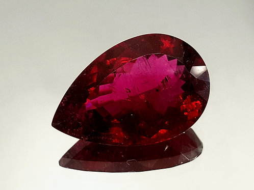 Natural Rubellite 29 ct Loose Gemstone pear cut from Brazil