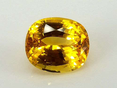 4.06 Ct Natural Yellow Sapphire Heat From Sri Lanka
