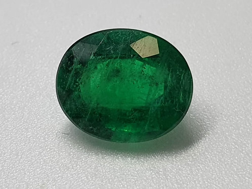 US $450 P/C, 4.15 carat Natural Emerald vivid green transparent oiled only