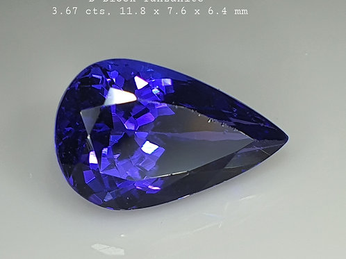 3.67 ct D-Block AAA Natural Tanzanite Blue  Loose Gemstone from Tanzania