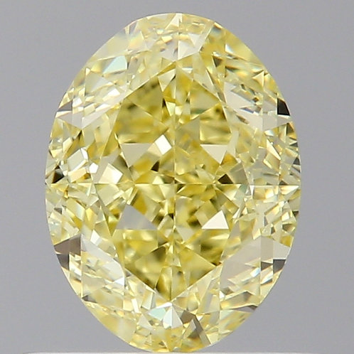 0.90 carat  Intense Yellow Diamond Oval GIA certified