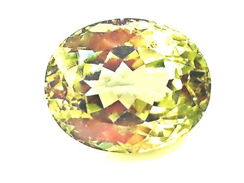 10.10 ct Natural Chrysoberyl golden green color