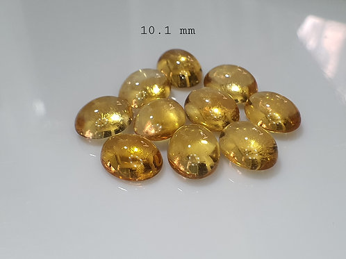 Natural Citrine Cabochan 10 mm fine Lot from Brazil
