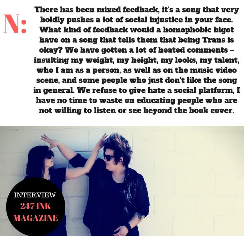NO HUGS INTERVIEW 247 INK MAGAZINE NO/HUGS BOSTON BOSTON MUSIC AWARDS