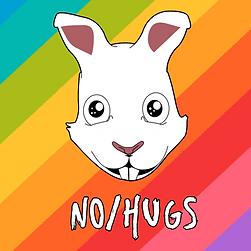 nohugsband logo, no/hugs, no hugs logo,  no hugs sam the bunny