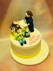 Comical Baby Shower Cake