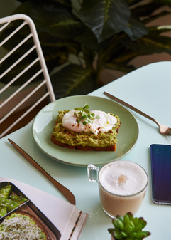 guac n roll toast with poached egg 40 dh