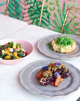 LC Greek Salad, Veggie Gateau + 7-Spiced