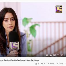 Sony TV- Video Tania's Teahouse November 2019