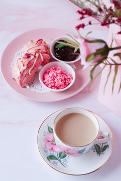 Rose Scones + Rose Clotted Cream & Jam (