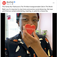 Buzzfeed- Tania's Teahouse During Covid May 2020