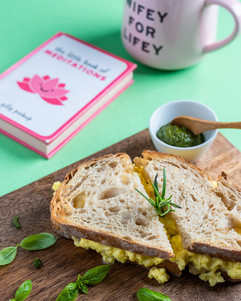 Pesto & Scrambled Egg Cheese Toastie