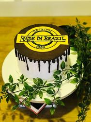 Brazil-themed Cake