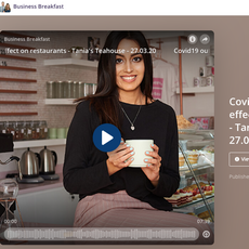 "Dubai Eye: Business Breakfast Show- ""Covid-19 Outbreak Effect on Tania's Teahouse"" March 2020"