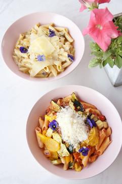 *Gluten-free* Alfredo Penne & Tomato and Roasted Veg