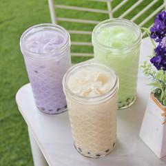 Milk Bubble Teas with Tapioca Pearls