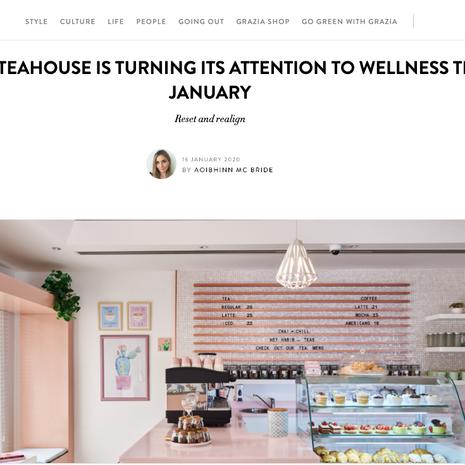 "Grazia- ""Wellness Week"" January 2020"