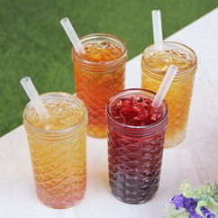 Iced Bubble Teas with Popping Bobas