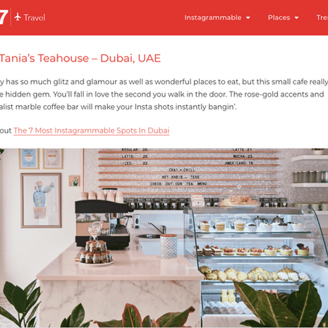 """Big 7 - """"Most Instagrammable Cafes in Asia"""" #4 Tania's Teahouse- September 2019"""