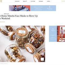 """Vogue Arabia """"DIY Tea Face Masks"""" Tania Lodi- June 2019"""