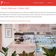 """Big 7- """"Most Instagrammable Cafes in the World"""" Tania's Teahouse as #7- August 2019"""