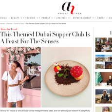 "About Her- ""Tania's Teahouse Supper Club"" September 2020"
