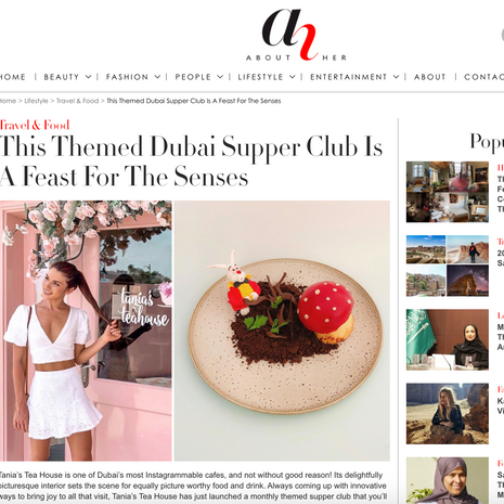 """About Her- """"Tania's Teahouse Supper Club"""" September 2020"""