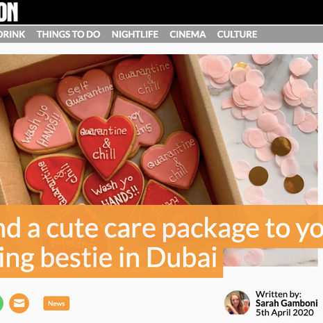 """What's On- """"Send a cute care package to your tea-loving bestie in Dubai"""" April 2020"""