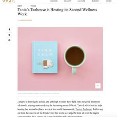 """Vogue- """"Tania's Teahouse Hosts their 2nd Wellness Week with Puma""""January 2020"""