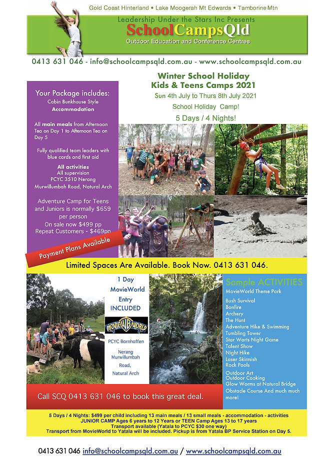 School Holiday Camp Flyer Winter 2021 re