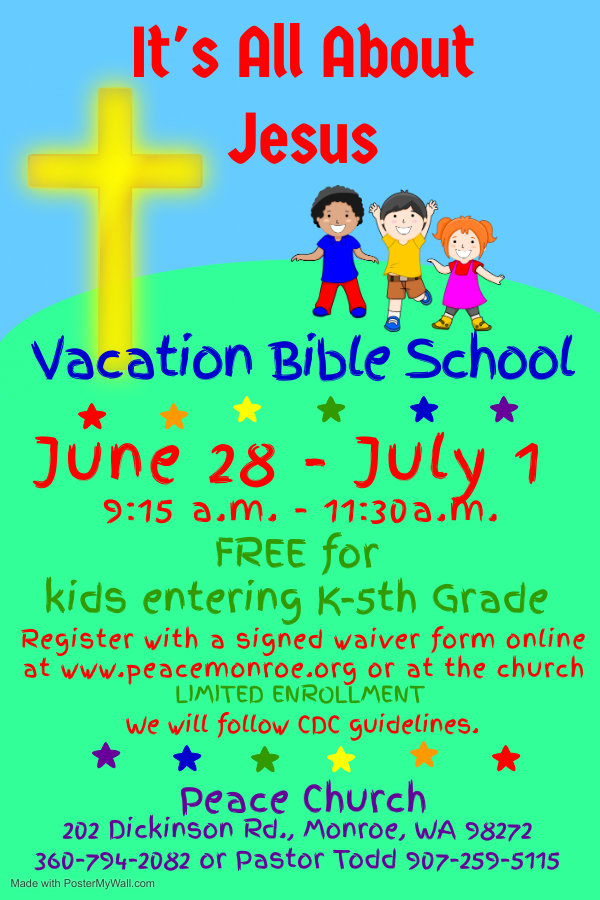 Copy of Vacation Bible School - Made wit