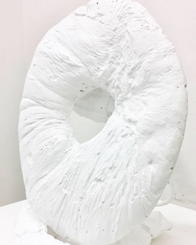 Organically Artificial   2018   Plaster, acrylic paint and aluminum   37 x 38 x 28 cm