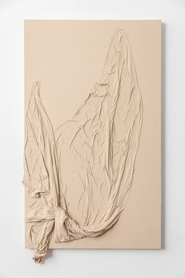 Peel, 2017 | Fabric and acrylic paint on canvas | 107 x 60 x 10 cm