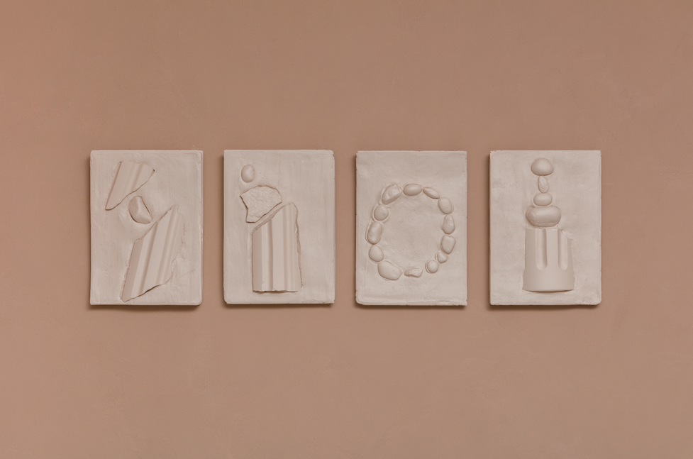 The Uncertain Origin of Tales | 2021 | Plaster, marble and stones |  36x26cm