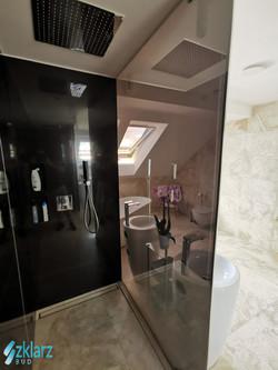 Parawan prysznicowy - lustro weneckie