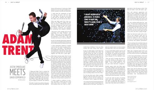 Interview: Adam Trent | Tampa Style Magazine