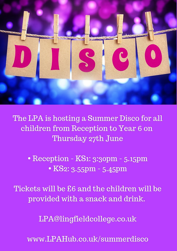 Lingfield College Prep Summer Disco 2019