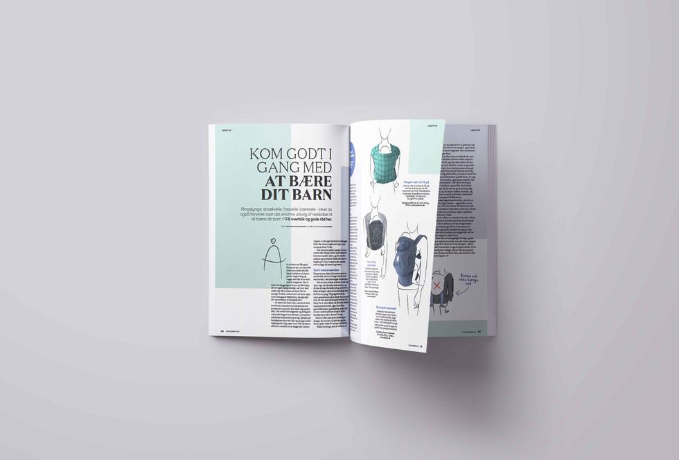 Magasinet Vores Børn. Design/layout og færdiggørelse til tryk af magasinerne Vores Børn og Gravid. Billedsøgning samt udvikling af illustrationer. Tæt samarbejde med journalister og andre grafikere.