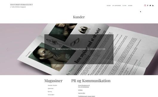 Historievaerkstedet. Hjemmeside.