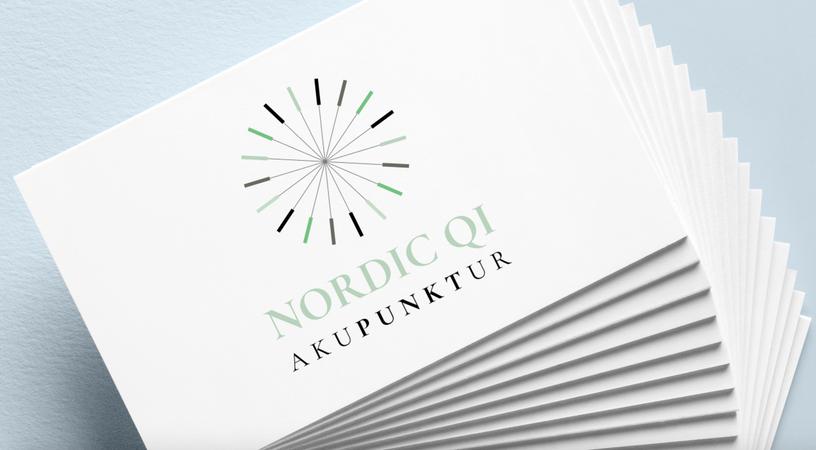 Nordic Qi Akupunktur. Logo. Visitkort.