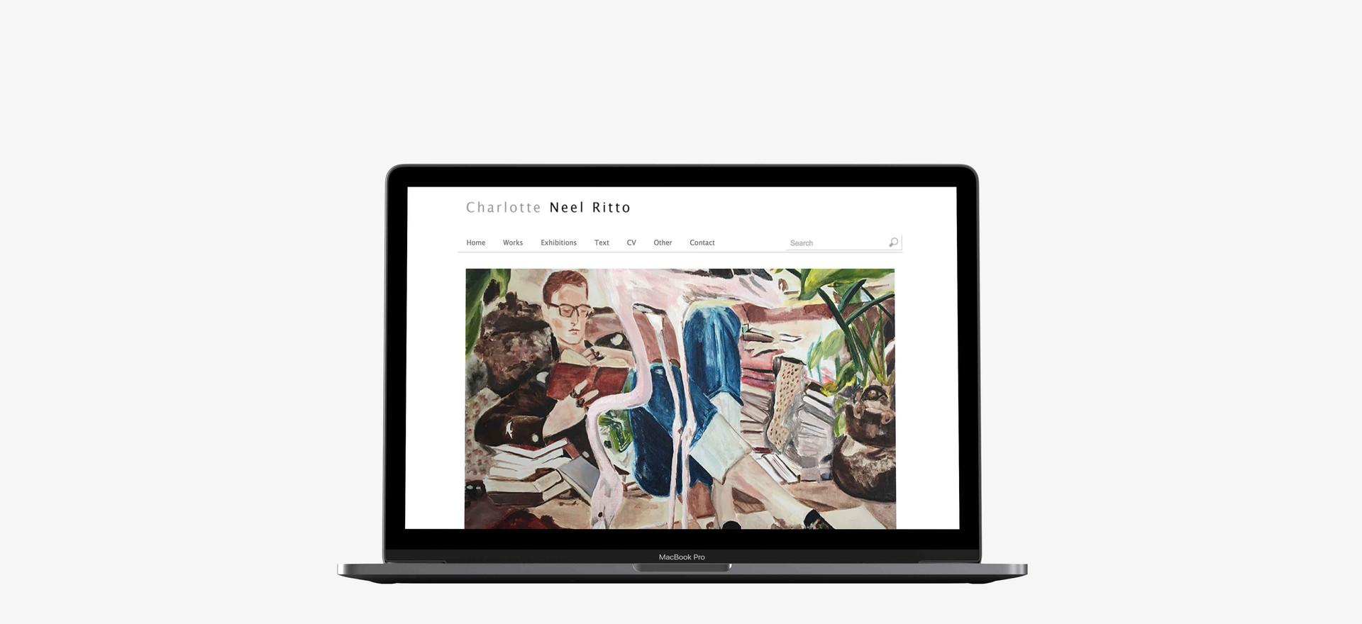 Charlotte Neel Ritto. Hjemmeside til kunstner.  Billedet linker til hjemmesiden.