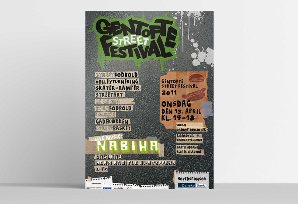 GENTOFTE STREET FESTIVAL. Plakat til Gentofte Street Festival