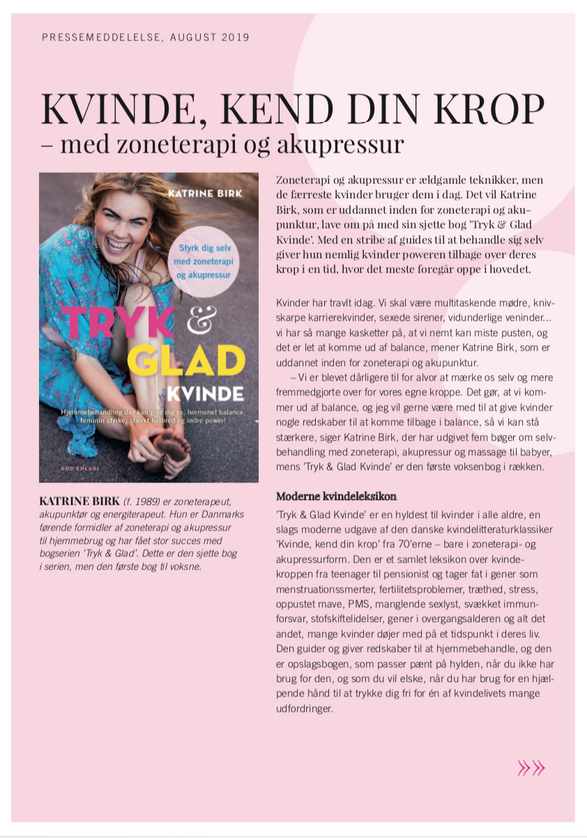 Katrine Birk, zoneterapeut og bestsellerforfatter