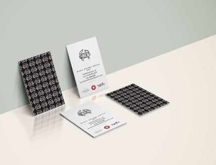 Visitkort og logo.