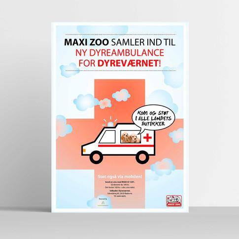 MAXI ZOO SAMLER IND TIL NY DYREAMBULANCE FOR DYREVÆRNET.